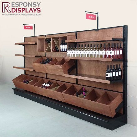 Hot Sale Creative Style Wood Pop Retail Store Display for Champagne and Beverages pictures & photos