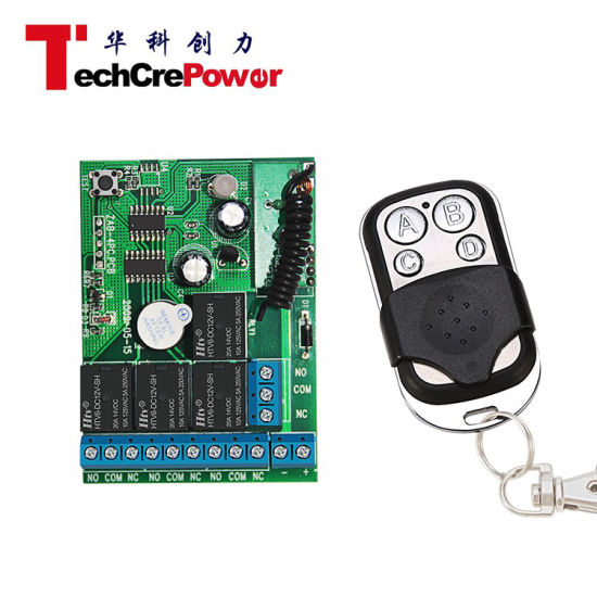 Digital Remote Control Switch 4CH Transmitter and Receiver Wireless Remote  Control Switch