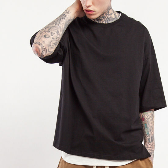 buy dependable performance shades of Custom Oversized Streetwear Fashion Hip Hop T Shirt with Side Split