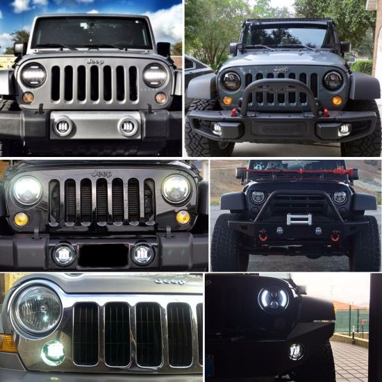 Jeep Wrangler Fog Lights >> Waterproof 4 Inch 30w Motorcycle Cree Round Replacement Led