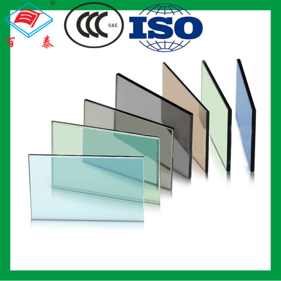 Building Double Pane Heat Absorbing Low Iron Float Insulated Toughened Tinted Art Tempered Stained Glass