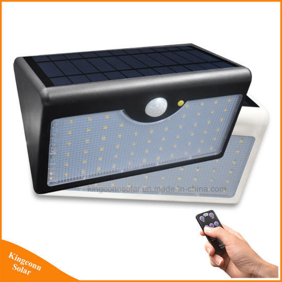 60 LED Solar Security Garden Wall Lights 5 Modes with Controller Motion Sensor