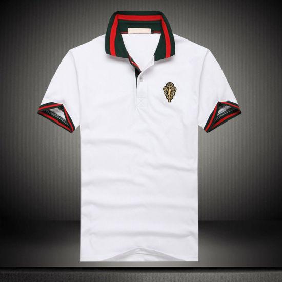 Customized Pique 240GSM White Cotton Embroidery Polo Shirt/ Polo T Shirt for Men