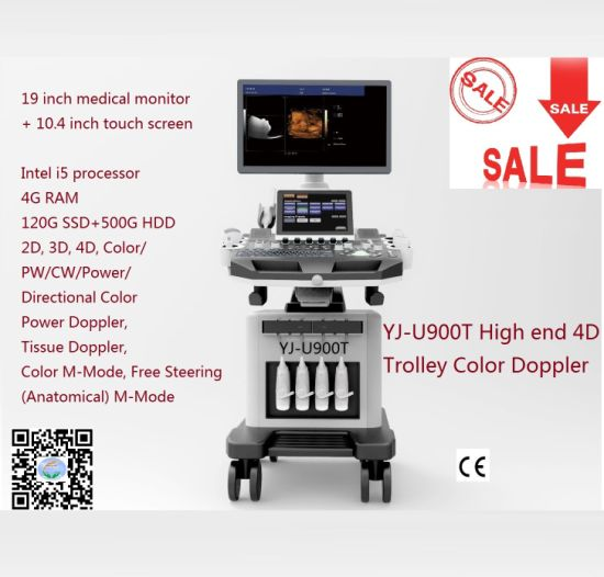 Hospital Equipment Pw/ Cw 4D Color Doppler Photography Ultrasound Machine