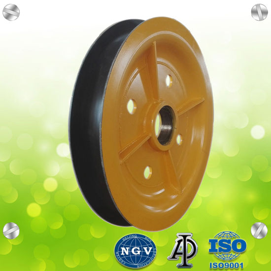 China Steel Wire Rope Pulley Motor Sheave for Trolley Motor Sheaves ...