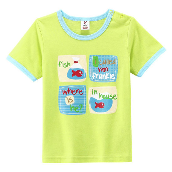 Factory Custom Printed Good Quality Fashion Cotton Kid T Shirt