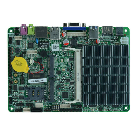 Fanless J1900 Industrial Motherboard 6 COM with USB3.0