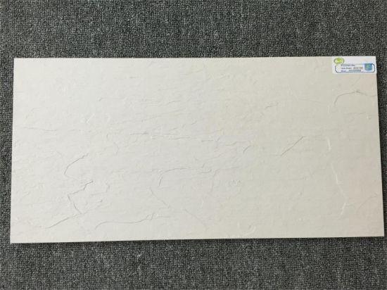Ecru White Color 300x600mm Rough Surface Porcelain Tile
