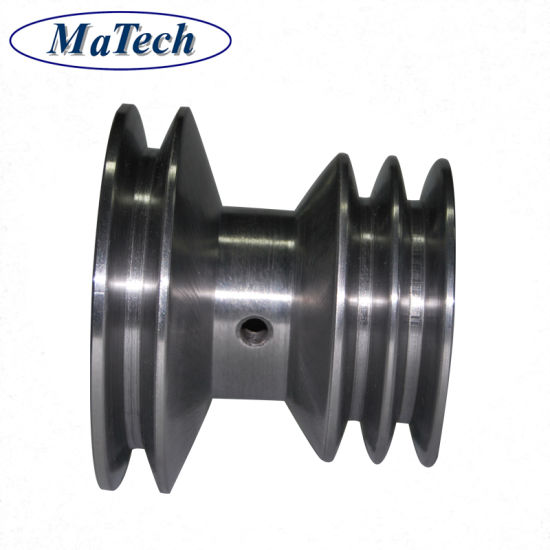 China Foundry Mass Production OEM CNC Cast Steel Metal Pulley Wheel