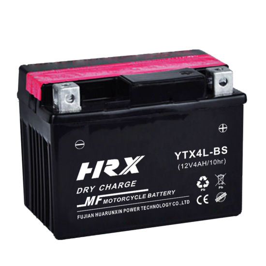 Ytx4l-BS Dry Charge Maintenance Free Lead Acid Battery 12V4ah