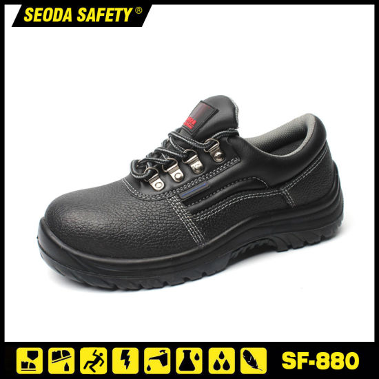 Genuine Leather Steel Toe Safety Shoes in Stock