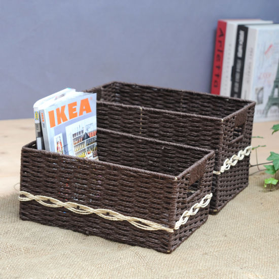 (BC RB1005) Durable Handmade Paper Rope Basket