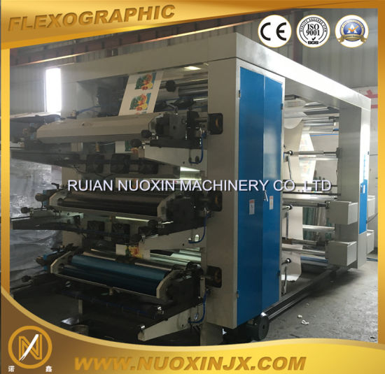 Nuoxin Stack Type 6 Colours Flexographic Printing Machine pictures & photos