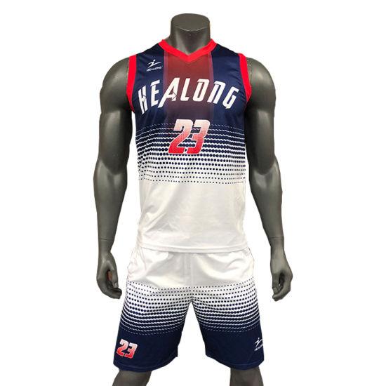 db07ba16446 Custom Cheap Basketball Uniform Set Full Sublimation Basketball Jersey