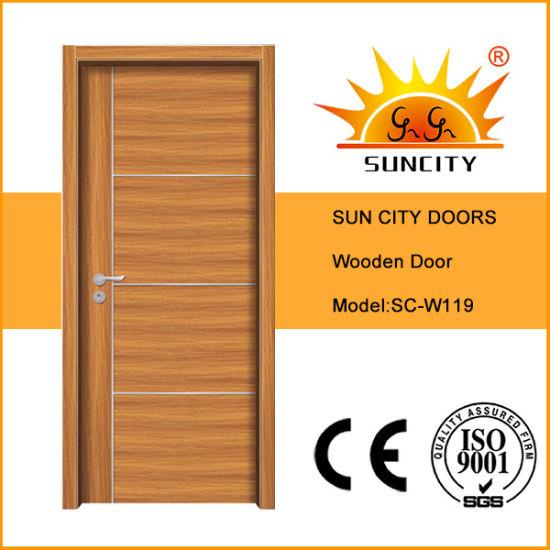 China Soundproof Solid Wood Main Door Interior Factory Price Sc