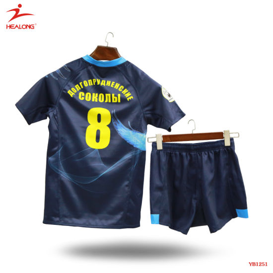 be03ba1813f Healong Fashion Customized Sportswear Designed Dye Sublimation Rugby Jersey