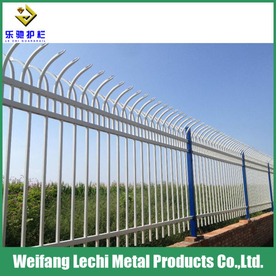 Garden Ornamental Safety Hot Dipped Galvanized Steel Pipe Fence