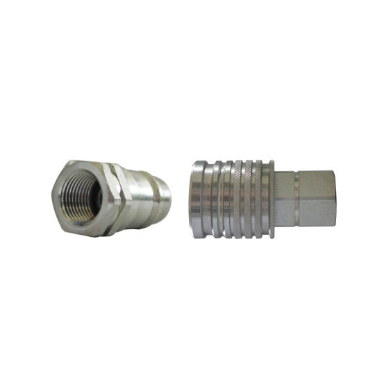 Hydraulic Quick Connector Pull-Push Coupling NBR/Viton Seal