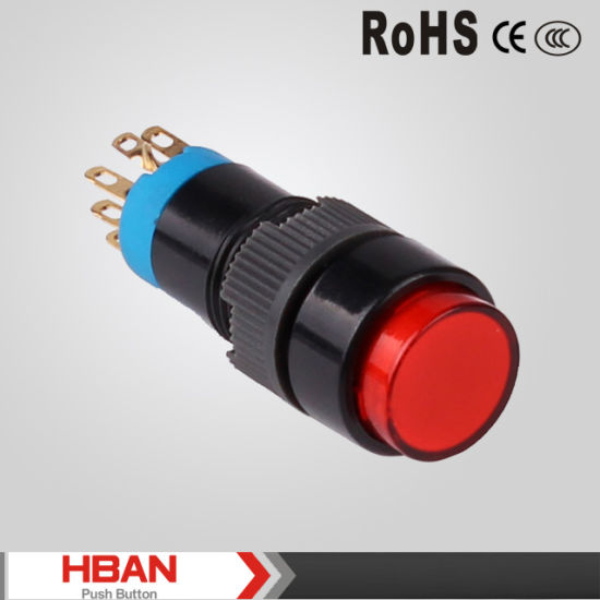 12mm Round Dot Led Plastoc Push Button Switch