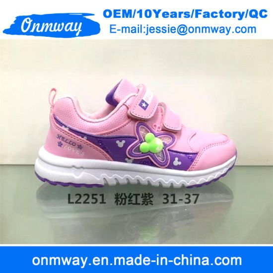 Children New Fashion Sports Running Shoes for Girls pictures & photos