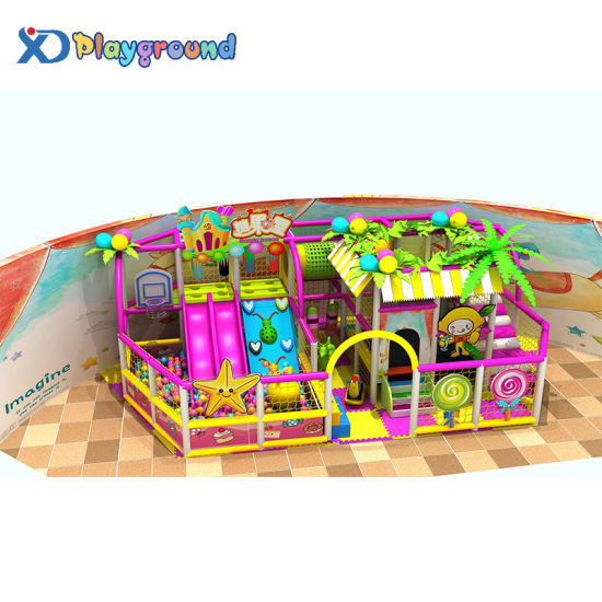 Colorful Amusement Park Playground Indoor Inflatable Toys