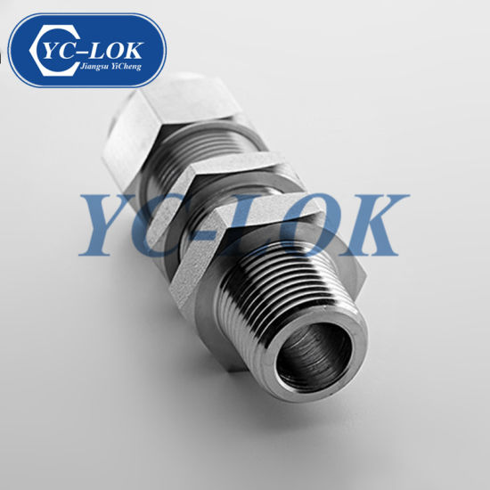 Stainless Steel/Carbon Steel NPT Bulkhead Male Coupling Fitting