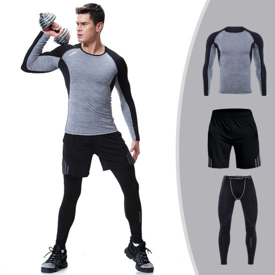 5ab51c0063236 Three Piece Suits Training Workout Clothes Gym Wear Mens Sportswear