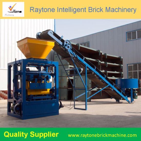 Qt4-26 Concrete Block Machine Hollow Cement Brick Making Machine
