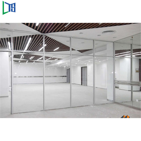 Aluminium Soundproof Frosted Glass Office Partition For Privacy