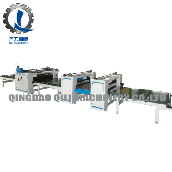 Double Glue Coating PVC Film MDF Panel Laminating Machine