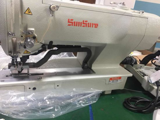 High Speed Computer Controlled Lockstitch Straight Button Holing Sewing Machine