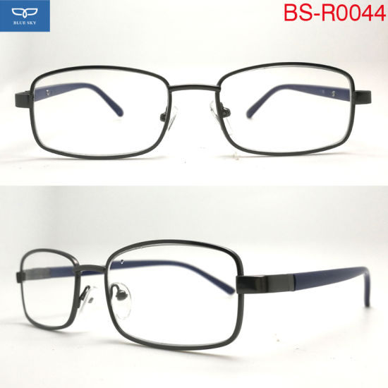 China Full Frame Copper Frame PC Temple Reading Glasses Optical ...
