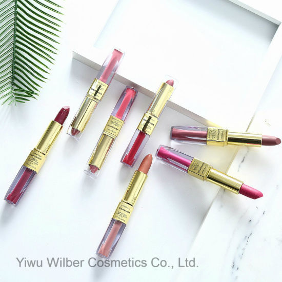 Double Ends Matte Lipstick Makeup Velvet Matte Lipstick and Matte Lipgloss 2 in 1 pictures & photos