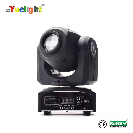 LED 30W 7 Gobos Rainbow Effect Mini Moving Head DJ Disco KTV Light Ce RoHS