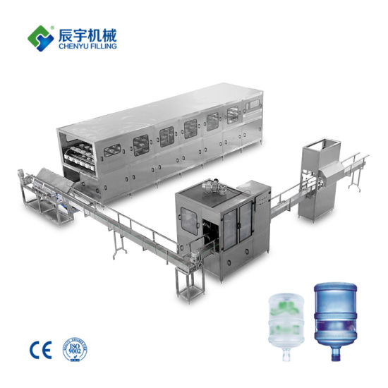 Auto Liner Type 5 Gallon 18.9L 20L Bottle Barrel Pure Drinking Water Washing Filling Capping Sealing Labeling Line Machine