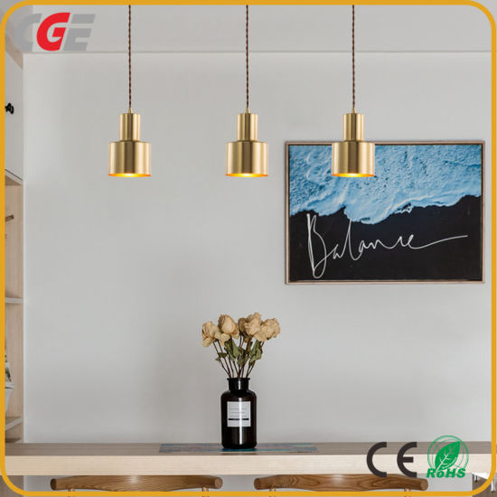 Three Heads Pendant Restaurant Bedroom Cafe Chandelier Gold Shade Modern Northern Europe Chandelier Lighting Pendant Lamp