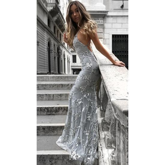 2019 New Evening Dress Sexy V Neck Hip Long Dresses For Wedding