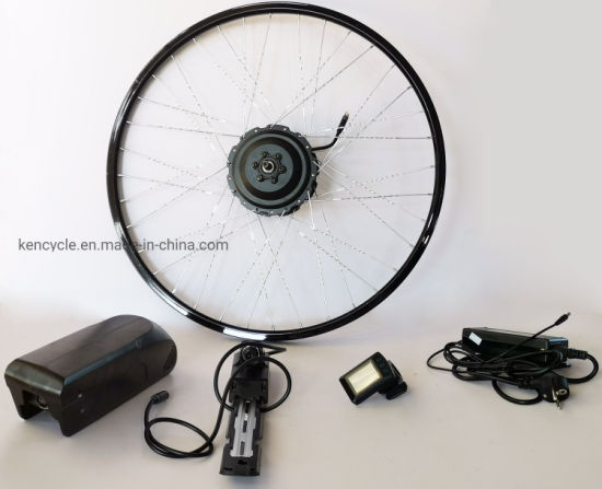 Waterproof 36V 350W Electric Bike E-Bike Motor Wheel Conversion Kit 350W with Lithium Battery and Bluetooth display pictures & photos