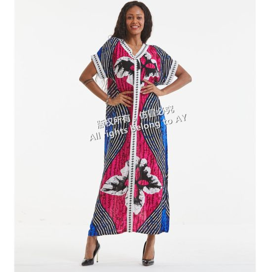 China Good Price African Women Short Sleeve Cotton Dresses Flower Print By African Kitenge Designs Pictures China Dresses And New Design Dress Price