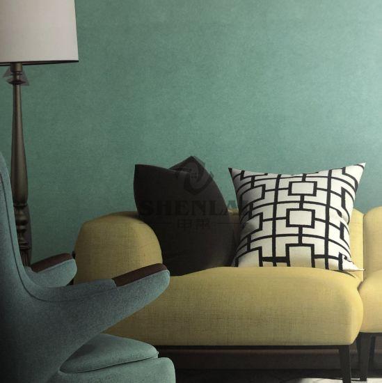Jacquard Plain High-Grade Green Wall Cloth
