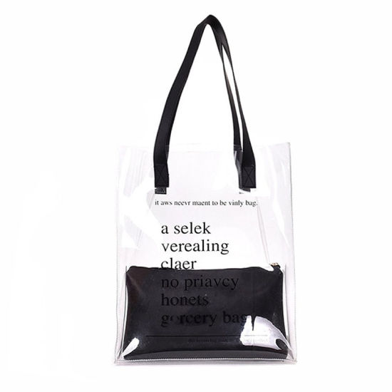 Customized Logo Waterproof Plastic PVC Shoulder Bag Shopping Bag Tote Bag Beach Bag