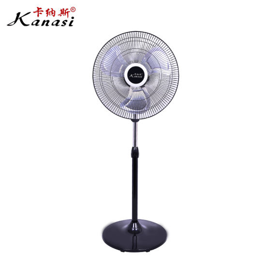 18''household Stand Fan with 4 Speed Setting and Colorful Carton Box Packing