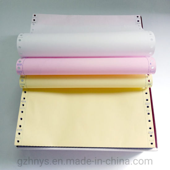 Chinese Supplier Hot Selling Carbonless Computer Continuous Printing 3 Ply Paper