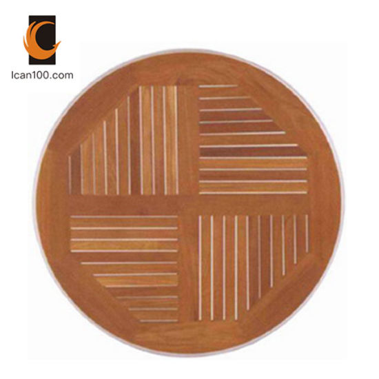 Anti Fading Wholesales Restaurant Furniture Teak Wood Dining Set Wooden Bistro Tables Table Top