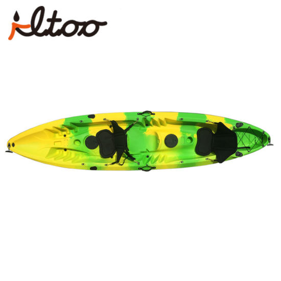 Rotomolded Tandem Kayak Family Sit On Top 2 Person Fishing Kayak For Sale