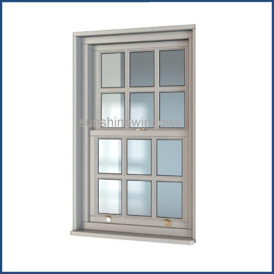 China Upvc Double Glazed Single Hung Window