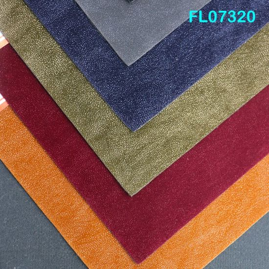 Supplier FL07320 Colorful 0.9 mm Flocked PU Synthetic Leather Material for Shoes
