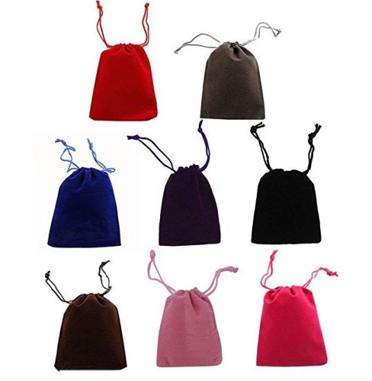 Velvet Cloth Jewelry Pouches Drawstring Bags Candy Gift Bag