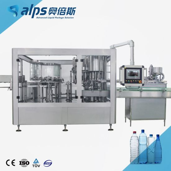 Automatic Pure Drinking Mineral Sparkling Soda Flavored Water Bottling Plant Production Line Carbonated Energy Drink Juice Liquid Filling Making Machine