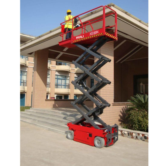 Self-Propelled Electric Scissor Lift Xe-Series Max Lifting Height 6.5 Meters